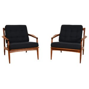 Pair, Danish Modern Teak Attractive & Easy, Chairs