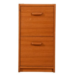 Danish Modern Teak File Cabinet w/ Two Drawers