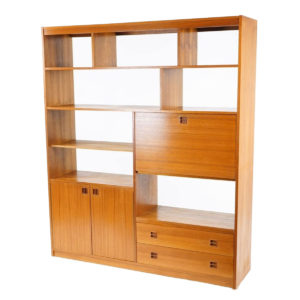 Danish Modern Teak Room Divider / Bookcase / Display Wall