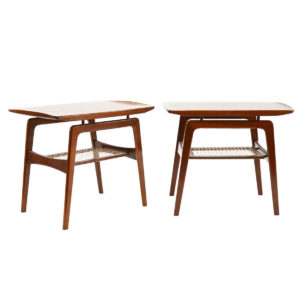 Floating Top – Pair of Danish Teak End / Bedside Tables