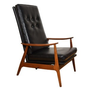 Thayer Coggin Tufted Reclining Lounge / Rocker by Milo Baughman