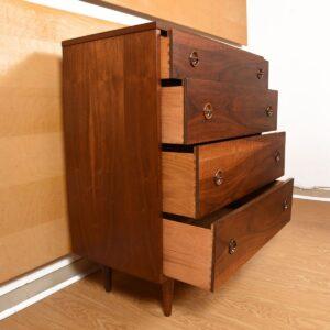 Walnut Mid-Century Tall Dresser