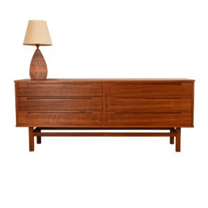 Danish Walnut 6-Drawer Dresser by Torring, Denmark