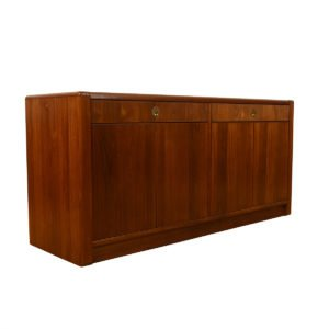 Teak Sideboard / Bar / Storage Cabinet with Brass Pulls