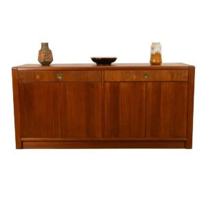 Danish Teak Expanding Multi-function Bar Cabinet with Storage