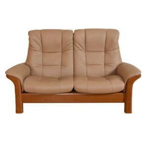 Ekornes Buckingham Stressless Leather Reclining Settee / Loveseat