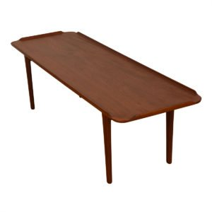 "Danish Modern ""Raised-Edge"" Teak Coffee Table"