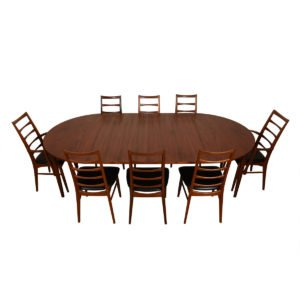 Danish Modern Teak Expanding Round Dining Table