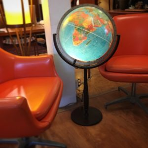 Vintage Lighted Standing Globe
