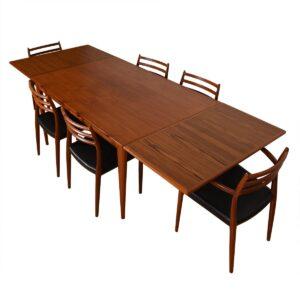 Mid-Sized Danish Teak Dining Table by Niels Møller
