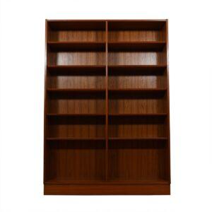 Danish Modern Teak Tall + Wide Full Bookcase