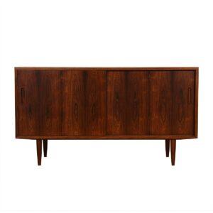 Rosewood Condo-Sized Sliding Door Sideboard / Media Cabinet