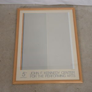 1979 Kennedy Center 5th Anniversary Poster by Gene Davis