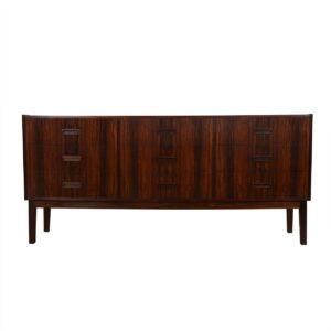 9-Drawer Danish Modern Rosewood Dresser / Sideboard