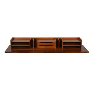 Danish Modern Teak Large Letter / Desk Organizer w/ Drawers