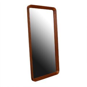 Danish Modern Teak Rounded-Edge Rectangular Mirror