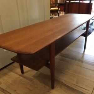 Danish Modern Teak Coffee Table with Shelf!