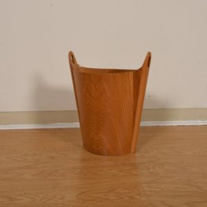 Danish Modern Waste Basket in Oak