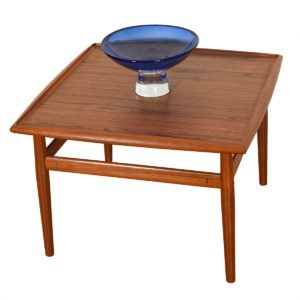 Raised Lip Edge Square Coffee Table by Grete Jalk in Teak