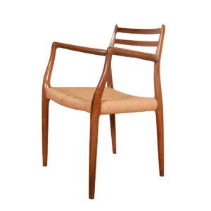 Niels Møller Set of 10 Danish Rosewood Dining Chairs