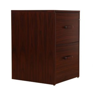 Danish Rosewood 2 Drawer Locking Filing Cabinet