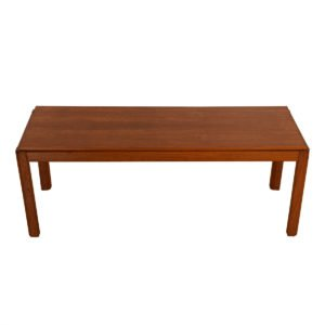 Apartment Sized Danish Teak Coffee Table w/ Angled Legs