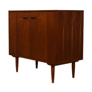 Mid Century Modern Walnut Open Storage Cabinet / Bar