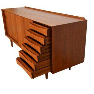 Arne Vodder Danish Teak Room Divider / Sideboard