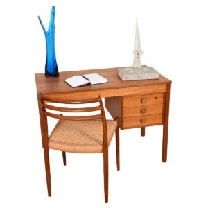 Danish Modern Teak Compact Writing Desk