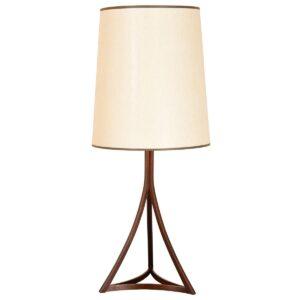 Danish Modern Rosewood Frame Table Lamp