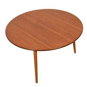 "Hans Wegner 3-Legged Set of 6  ""Heart"" Chairs & Matching Table for Fritz Hansen"