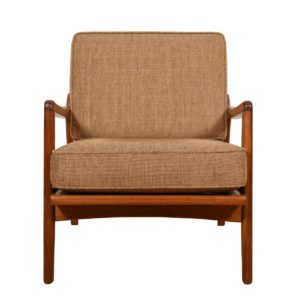 Pair Walnut Club Chairs by Smilow Design