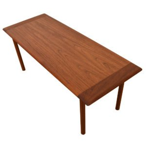2-Tone Danish Teak Coffee Table w/ Edge Band Figuring.