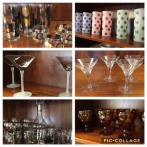 Vast Selection of Vintage Glasses & Mid Century Barware