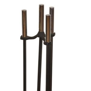 Set of Iron Mid-century Modern Fireplace Tools