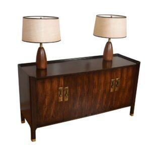 Mid Century Modern Designer Cabinet w/ Brass Hardware