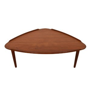 Danish Teak Raised Lip 'Guitar Pick' Coffee Table