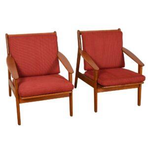 Pair Danish Modern Easy Chairs by FDB