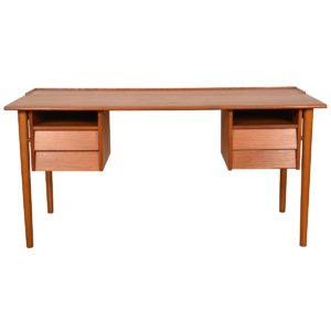 Swedish Modern Teak Writing Desk.