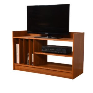 Danish Modern Teak Compact Media / Vinyl Shelf Unit