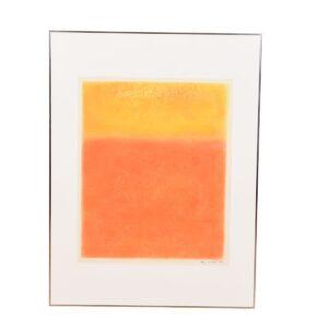 Pair of Orange Rothko-Style 'Color Field' Artwork by Alexis De Boeck, 1978