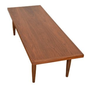 Mid Century Walnut Rectangle Coffee Table