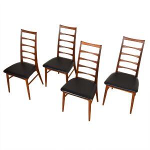 Set of 4-8 Koefoed Hornslet Danish Teak Dining Chairs.