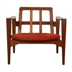 Danish Modern Solid Teak Lounge Chair