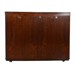 Expanding Danish Modern Rosewood Standing Bar