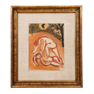 Chagall 'Cain + Abel' Original Lithograph Artwork