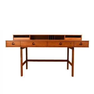 Lovig 'Flip-Top' Danish Modern Teak Partner's Desk