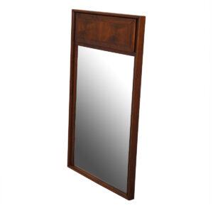 Mid Century Modern Walnut Paneled Mirror