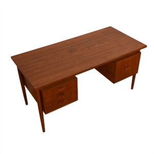 Danish Modern Teak Floating Desk