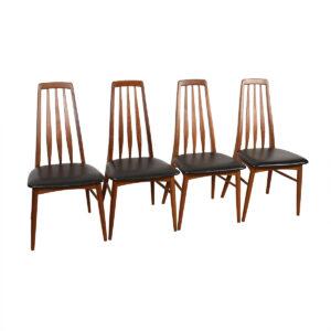 Set of 4 Koefoed Hornslet Danish Modern Walnut Dining Chairs